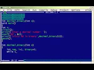 C How To : c program to convert decimal to binary youtube ~ A.2002-acura-tl-radio.info Haus und Dekorationen
