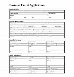 credit application template 13 free word pdf documents With standard credit application template