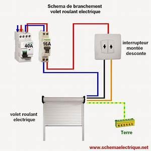 Schema Cablage Tableau Electrique Maison : schema branchement cablage volet roulant electrique ~ Dailycaller-alerts.com Idées de Décoration