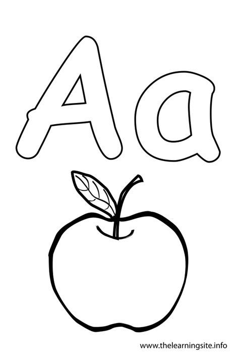 Alphabet Outline Outline Letter A Colouring Pages