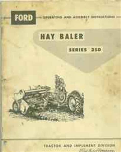 farm tractors  sale ford baler series  manual