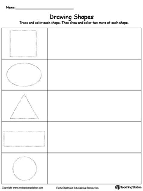 preschool shapes printable worksheets myteachingstationcom