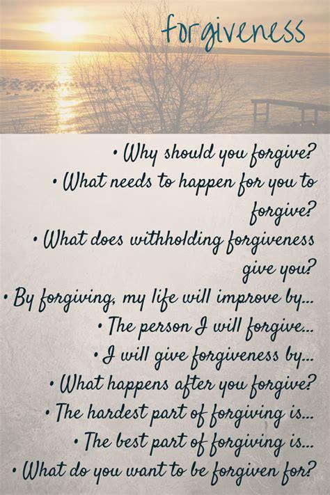 forgiveness fine print journaling