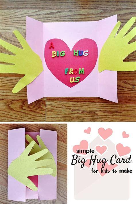 big hug card craft  kids grandparents day crafts
