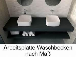 Waschbecken Arbeitsplatte Bad : waschbecken plan vasque individuelle arbeitsplan harz bad waschbecken capri pompeya steineffekt ~ Markanthonyermac.com Haus und Dekorationen