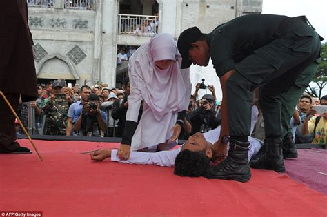 Couple Caned In Indonesia For Violating Sharia Law Daily