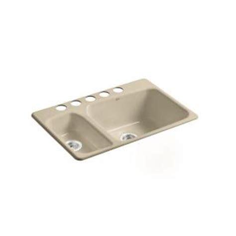 kohler lakefield kitchen sink kohler lakefield undercounter cast iron 33x22x10 25 5 hole