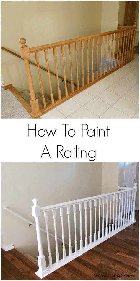 how to paint stair railings newton custom interiors
