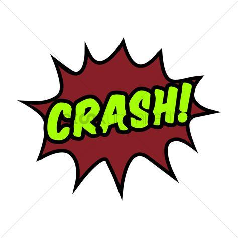 Crash Comic Speech Bubble Vector Image