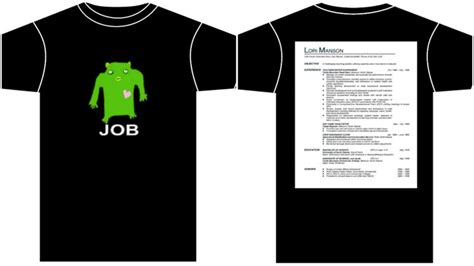 Resume T Shirt by The Cv Tshirt Razblint