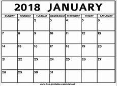 January Calendar printable yearly calendar
