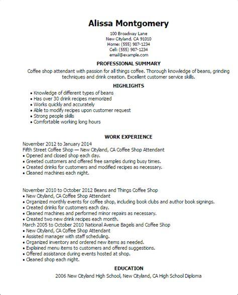 Resume Highlights Exles by Resume Coffee Shop Resume Sle