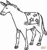 Donkey Coloring Pages Democrat Printable Donkeys Getcoloringpages Animal Categories sketch template