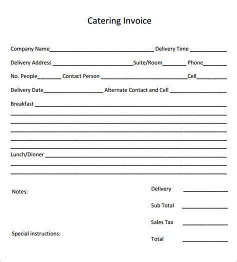 catering invoice samples  google docs google