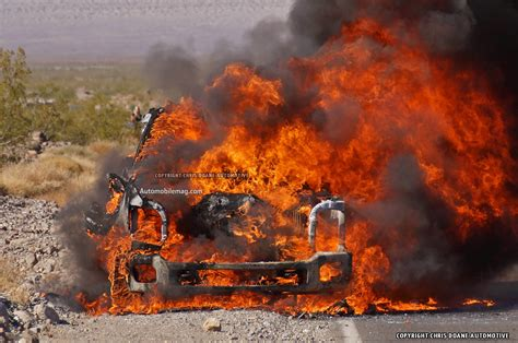 ford  series super duty prototype catches fire