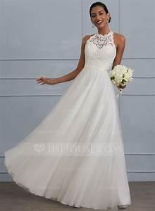 forme princesse col rond longueur ras du sol tulle robe de With robe de mariée jjshouse