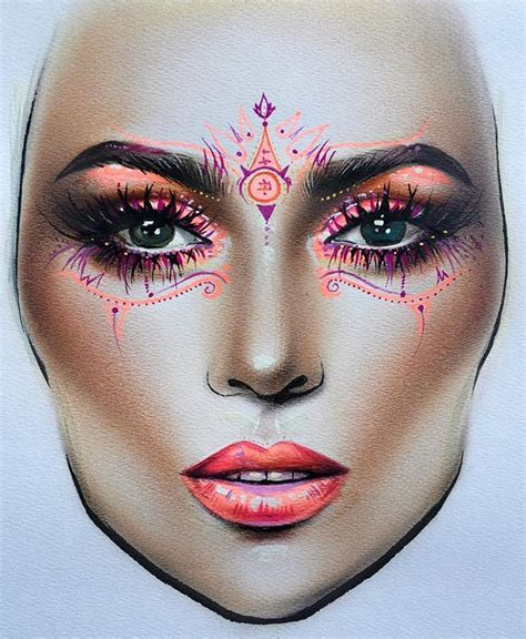 makeup face drawing at getdrawings com free for personal