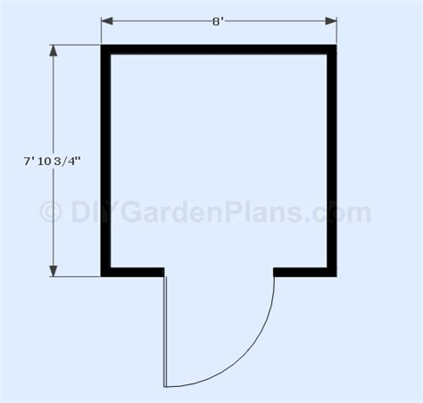 8x8 shed floor plans 8x8 gable shed plans