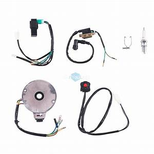 50 To 125cc Kick Start Atv Complete Wiring Harness Cdi