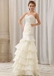 tiered wedding gown the popular bride wear 2016 With tiered wedding dress