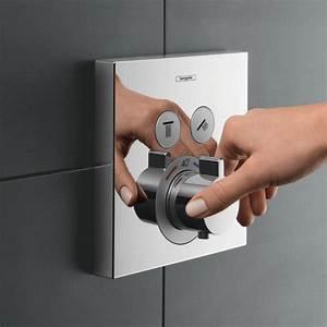 Hansgrohe Unterputz Thermostat : hansgrohe showerselect thermostat unterputz f r 2 verbraucher 15763000 reuter ~ Watch28wear.com Haus und Dekorationen