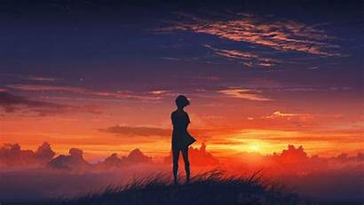 Alone Anime Wallpapers Sunset Computer Desktop Cave
