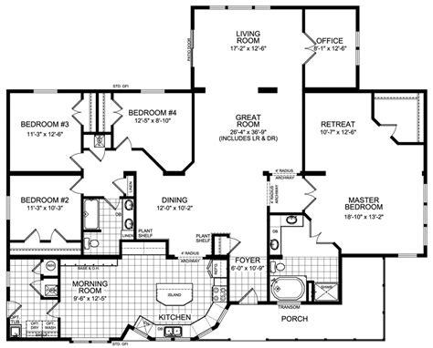 4 bedroom floor plan modular home floor plans 4 bedrooms modular housing