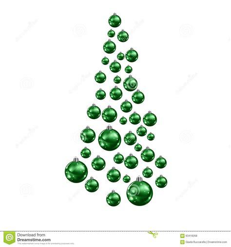 christmas tree made of suspended green christmas balls