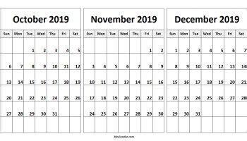 october november december  calendar  calendar