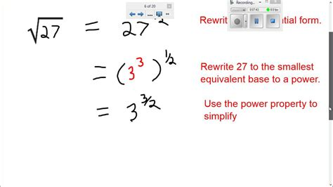 simplify expressions with fraction exponents calculator