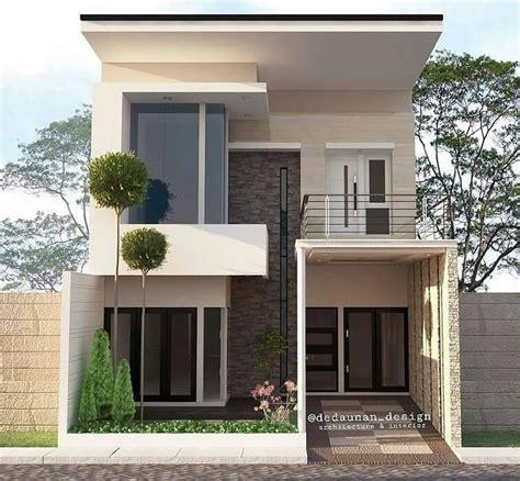 desain rumah  lantai lengkap sederhana tampak depan