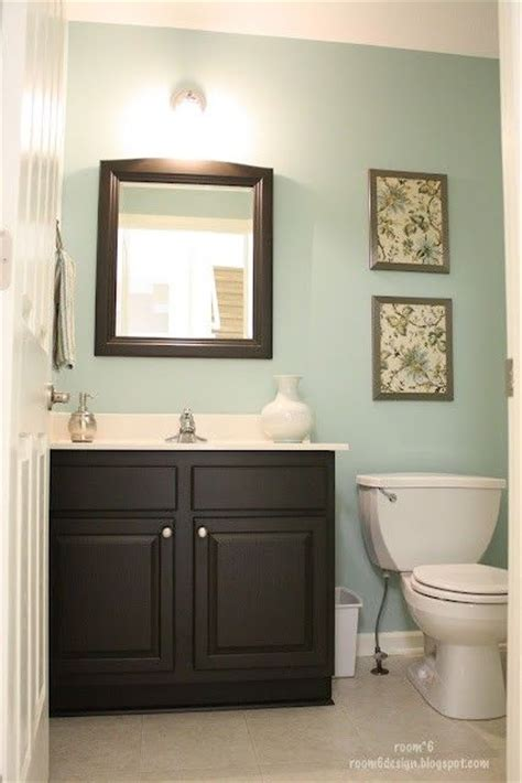 small powder room wall color bathroom decor