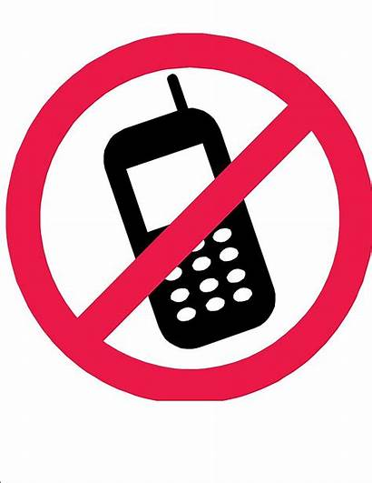 Cell Phones Phone Sign Clipart Printable Policy