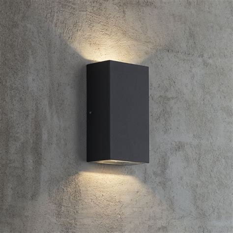 led outside wall lights black nordlux rold outdoor led wall light black