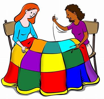 Quilting Clip Clipart Together Sewing Downloads Quilt