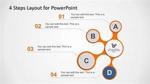 Free 4 Steps Liquid Powerpoint Diagram