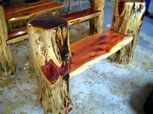 Rustic Log Benches! Making frontier furniture in backyard