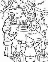Birthday Party Coloring Happy Printable Categories sketch template