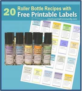 roller bottle blend recipes with free printable labels With essential oil label template