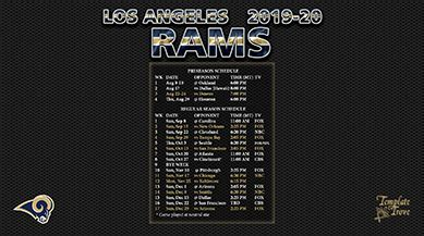 los angeles rams wallpaper schedule
