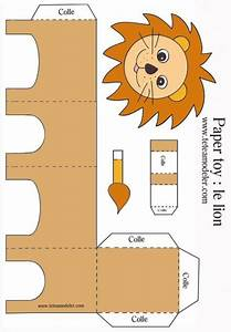 Origami Animaux Facile Gratuit : paper toy lion imprimer t te modeler bricolage ~ Dode.kayakingforconservation.com Idées de Décoration