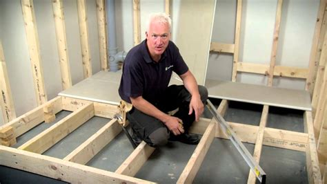 how to install floating floorboards hardiefloor 174 structural interior flooring installation youtube
