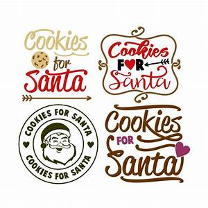 Cookies for Santa Cuttable Design]