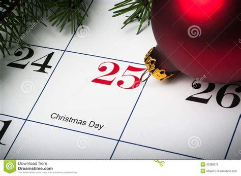 Close Up Of December 25th Calendar Stock Photo  Image 35288572