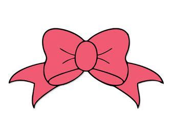bow decal silhouette svg dxf file instant