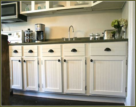 White Beadboard Kitchen Cabinets  Home Design Ideas