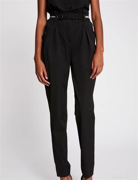 pantalon fluide taille haute pantalon fluide taille haute uni vetements pantalons
