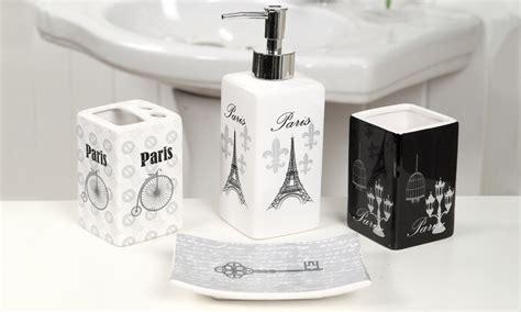 indecor  piece fleur de lis bath bundle set check