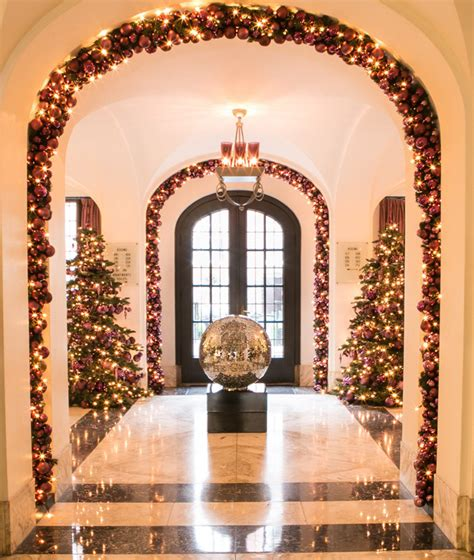 top ten hotel lobby christmas decorations inspirations blossoming decoration