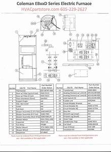 Eb17d Coleman Electric Furnace Parts  U2013 Hvacpartstore